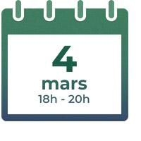 4 mars 2020, 18h - 20h