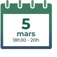 5 mars 2020, 18h30 - 20h