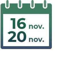 Du 16 novembre au 20 novembre 2020