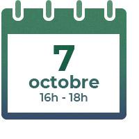 7 octobre 2021,  16h-18h
