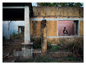 Manono –  Makomeno, ancien quartier des dirigeants de la société minière Géomines, aujourd'hui abandonné.