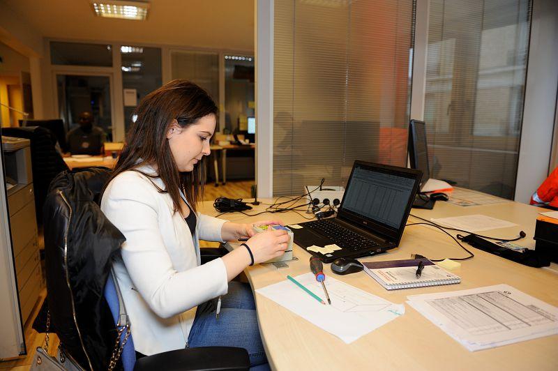 Anne-Sophie, eleve ingenieure en entreprise.