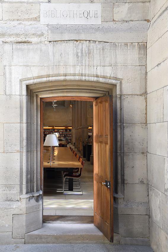 Ancienne entrée de la bibliothèque
