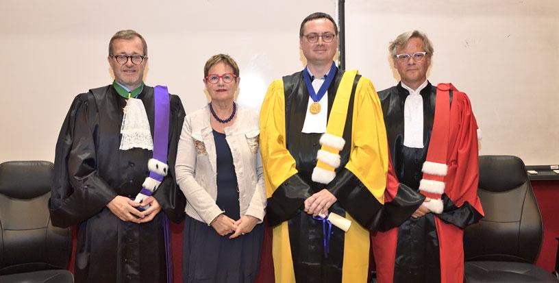 De gauche à droite Olivier Faron, Michelle Demessine, Bertrand Réau et Laurent Cappelletti