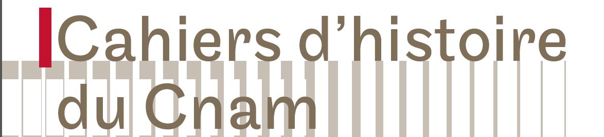 Cahiers d'histoire du Cnam