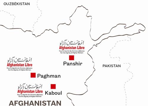 Carte des actions d'Afghanistan libre