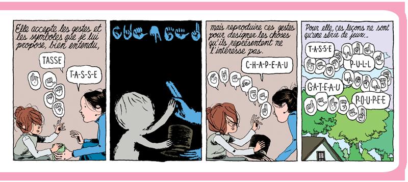 Extraits des planches 22 et 76 © Editions ça et là / Editions Cambourakis