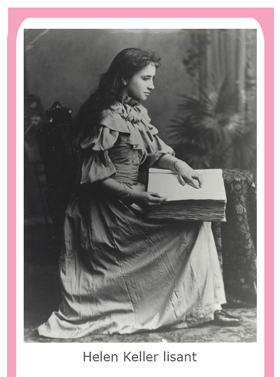 Helen Keller lisant