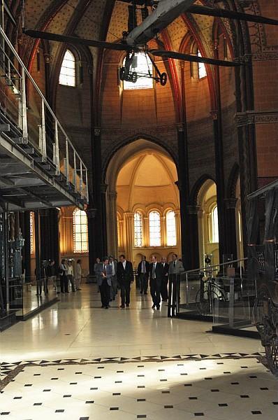 Passage par la Chapelle lors de la visite du Musée des arts et m