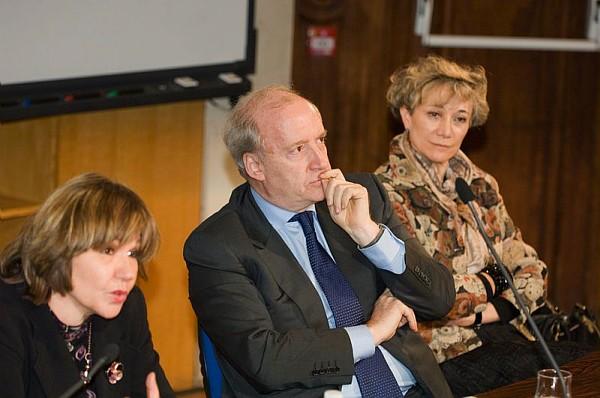 H. Vedrine, N. Gnesotto et M. Valette au Cnam