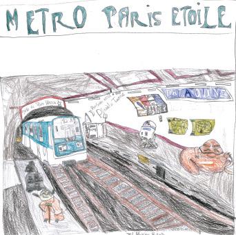 Station 9e art vue par Jad 8 ans