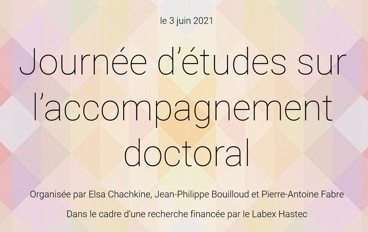 Journée d'études du 3 juin 2021