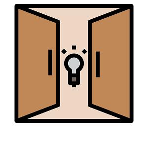 Open door - Copyright The Noun Project by Becris
